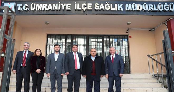 Başkan Hasan Can'dan Ümraniye İlçe Sağlık Müdürü Cemal Karaağaç'a Ziyaret