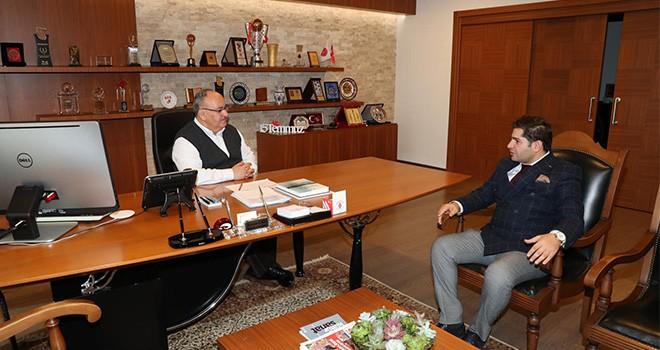 Ümraniye Bayburt İli ve İlçeleri Kalkındırma Dernek Başkanından Başkan Hasan Can'a Ziyaret