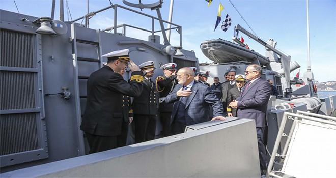Başkan Yücel Çelikbilek TCG Tufan Gemisi'ni Ziyaret Etti