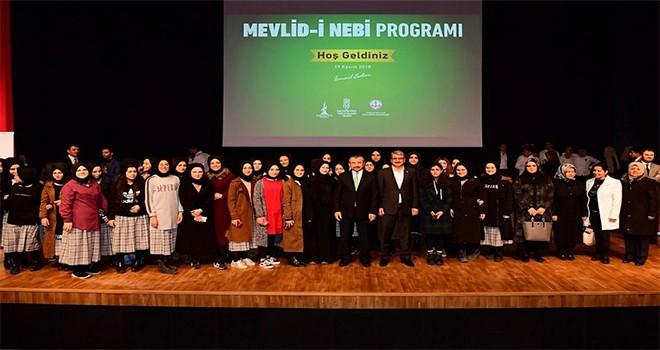Mevled-i Nebi Programı Recep Tayyip Erdoğan Kongre Merkezi'nde gerçekleşti.