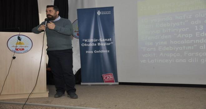Tarihçi-Yazar Dr. Ahmet Anapalı Lise Öğrencileriyle Ümraniye'de Buluştu