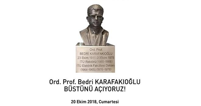 Ord. Prof. Bedri Karafakıoğlu Büstü Açılıyor...