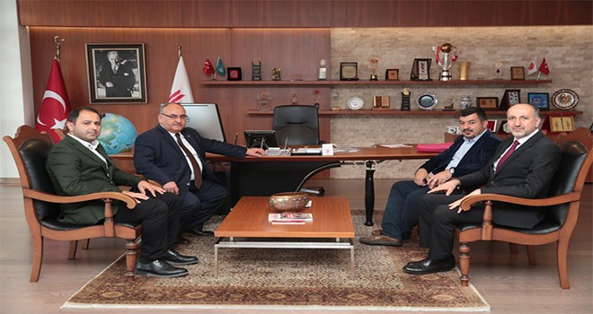 Filistin Cebaliye Belediye Başkan Danışmanı Dr. Ahmed Neccar'dan Başkan Hasan Can'a Ziyaret