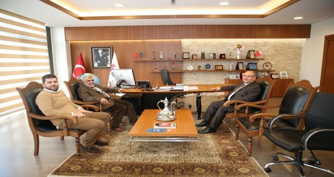 Yenidoğan Eski Belediye Başkanı Mahmut Vanlıoğlu'ndan Başkan Hasan Can'a Ziyaret