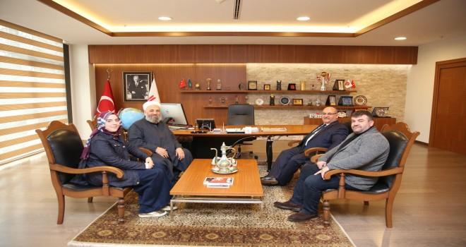 İlahiyatçı, Eğitimci ve Yazar Mehmet Talu Hoca'dan Başkan Hasan Can'a Ziyaret