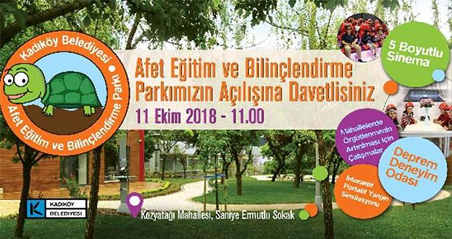 Türkiye'nin İlk Afet Eğitim Parkı Kadıköy'de