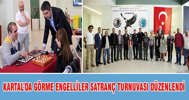 Kartal'da Görme Engelliler Satranç Turnuvası Düzenlendi