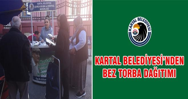 Kartal Belediyesi'nden Bez Torba Dağıtımı