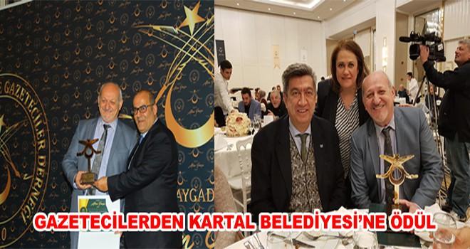 Gazetecilerden Kartal Belediyesi'ne Ödül