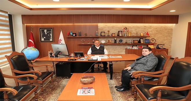 Anadolu Samsun Dernekler Federasyonu Başkanı'ndan Başkan Hasan Can'a Ziyaret