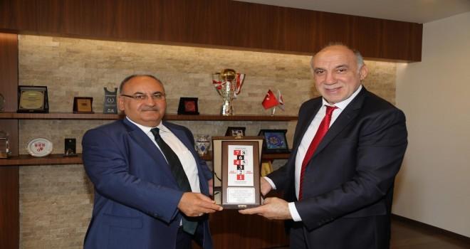 Çocuk Oyunları ve Spor Kulüpleri Federasyonu Başkanı Mehmet Mutlu'dan Başkan Hasan Can'a Ziyaret