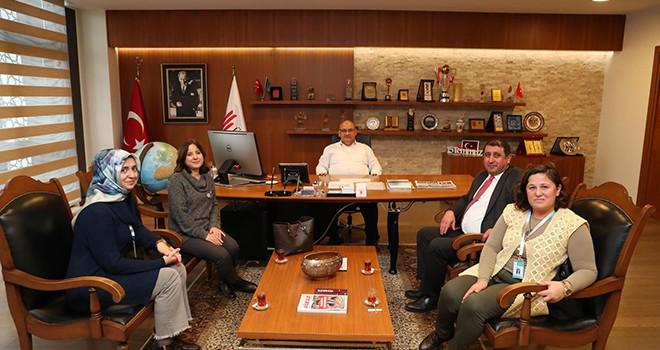 Başkan Hasan Can, Ümraniye İlçe Sağlık Müdürü Dr. Cemal Karaağaç'ı Ağırladı