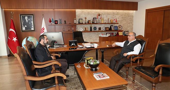 Başkan Hasan Can'a Ümraniye Belediye Başkan Aday Adayı'ndan Ziyaret