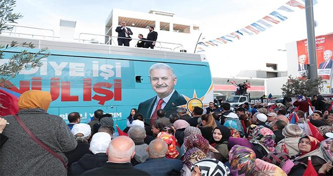 Cumhur İttifakı AK Parti İstanbul Büyükşehir Belediye Başkan Adayı Binali Yıldırım Ümraniye'de!