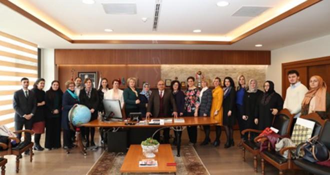 Başkan Hasan Can Bosna SDA Parti Kadın Kolları Temsilcileri ile Bir Araya Geldi