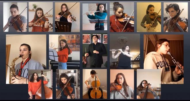 Ataşehirli genç müzisyenlerden sağlık çalışanlarına destek