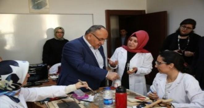 Başkan Hasan Can'dan Altın ve Gümüş İşlemeciliği İle Giyim Atölyelerine Ziyaret