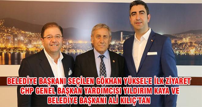 Belediye Başkanı Seçilen Gökhan Yüksel'e İlk Ziyaret CHP Genel Başkan Yardımcısı Yıldırım Kaya Ve Belediye Başkanı Ali Kılıç'tan