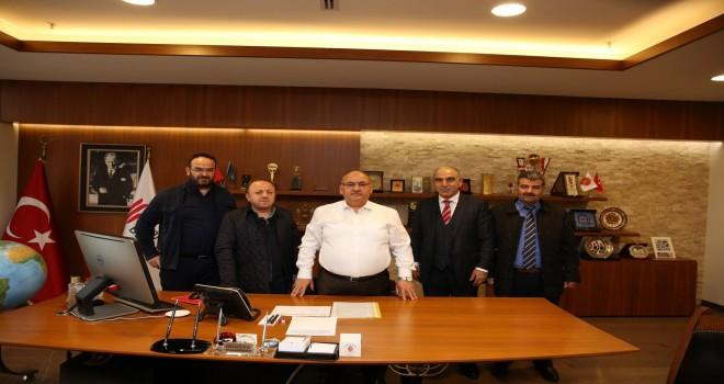 Akabe Site Yönetimi'nden Başkan Hasan Can'a Ziyaret