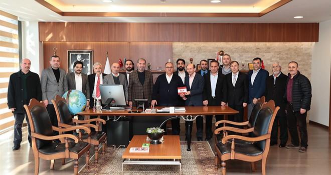 Gümüşhaneliler Derneği (Güyad) Yönetimi'nden Başkan Hasan Can'a Ziyaret