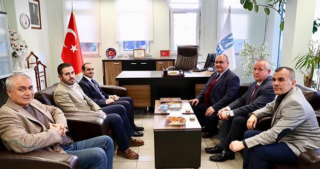 Başkan Hasan Can Ümraniye İski Şube Müdürü Battal Kamiloğlu'nu Ziyaret Etti