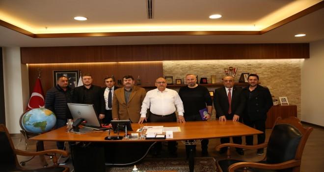 Mesudiye Spor Kulübü Başkanı ve Mesudiye Derneğinden Başkan Hasan Can'a Ziyaret