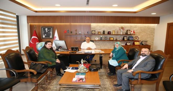 İstamonu Fuarcılık Şirketi Yönetim Kurulu Başkanı Gözde Yüksel'den Başkan Hasan Can'a Ziyaret