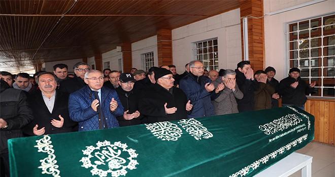 Başkan Hasan Can Muzaffer Karadağ'ın Cenaze Törenine Katıldı