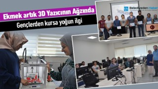 3D MODELLEME KURSU'NA GENÇLERDEN YOĞUN İLGİ
